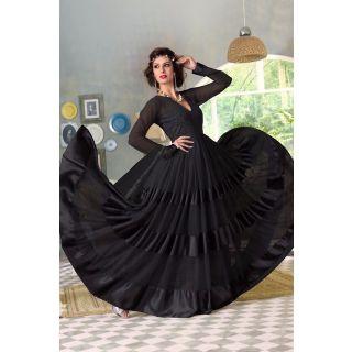 Wonderful Black Semi Stitched  Party Wear Salwar Kameez EBSFSK14218C