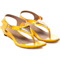Nell Classy Ladies Yellow Wedges