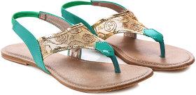 Nell Women's Green Sandals