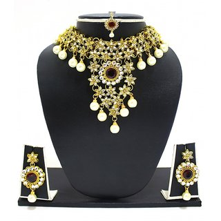 Zaveri Pearls Jodha Necklace Set-ZPFK2987