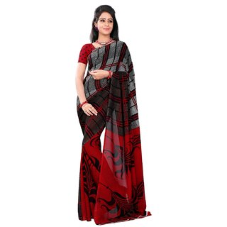 Florence Multicolor Faux Georgette Printed Saree (FL-10495)