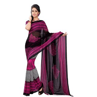 Florence Multicolor Faux Georgette Printed Saree (FL-10499)