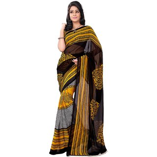 Florence Multicolor Faux Georgette Printed Saree (FL-10501)