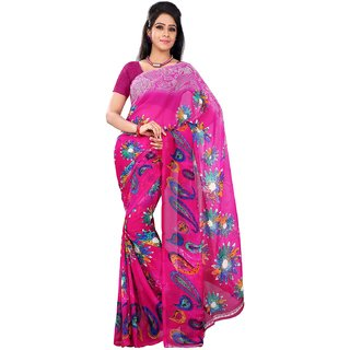 Florence Multicolor Faux Georgette Printed Saree (FL-10503)
