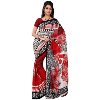 Florence Multicolor Faux Georgette Printed Saree (FL-10508)