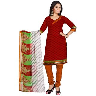 Parisha Multicolor Crepe Printed Salwar Suit Dress Material