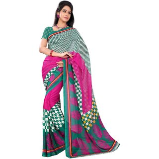 Florence Multicolor Faux Georgette Printed Saree (FL-10511)