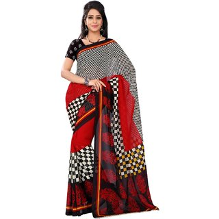 Florence Multicolor Faux Georgette Printed Saree (FL-10512)
