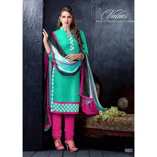 Semi formal office/party wear embroidery salwar kameez suit - 060 (Unstitched)