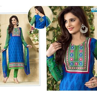 Rich Embroidered Salwar Suit Dress Materials (Unstitched)