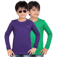 DONGLI BOYS FULL SLEEVE TSHIRT ( PACK OF 2 )DLF450_8_4_PURPLE_GREEN