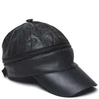 Leather Zipper Cap