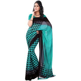 Florence Multicolor Faux Georgette Printed Saree (FL-10534)