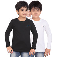 DONGLI BOYS MARVELLOUS FULL SLEEVE T-SHIRT (PACK OF 2)DLF450_BLACK_WHITE