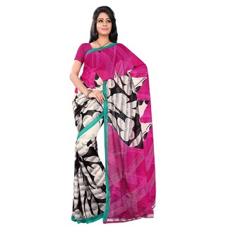 Florence Multicolor Faux Georgette Printed Saree (FL-10537)