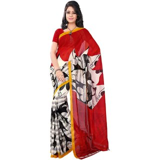 Florence Multicolor Faux Georgette Printed Saree (FL-10538)