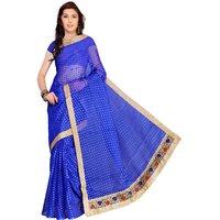 Florence Blue Jacquard Embroidered Saree (FL-10570)
