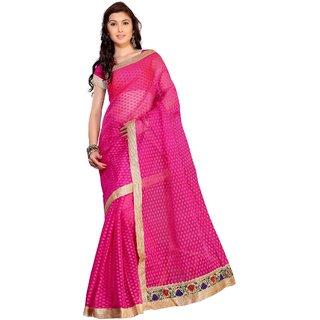 Florence Pink Jacquard Embroidered Saree (FL-10569)