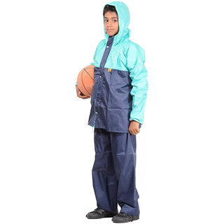 Polyester Boys Rainsuit,P-1123 -NAVY-M