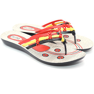 PU Fair Yellow Orange womens Sliper