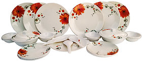Deemark Dine smart stylon 32 pic Dinner set-Sun flower