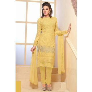 Gorgeous Yellow Semi Stitched Party Wear Salwar Kameez EBSFSK15503G