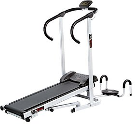 Ansonsports Lifeline Manual Treadmill with Twister and Pushup Wheel Attachment