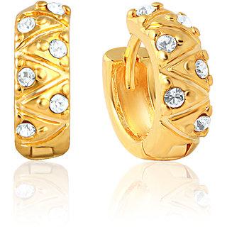 Mahi Gold Plated Fashionara Earrings With Crystals