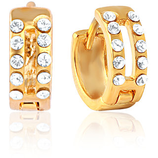 Mahi Fashion Jewelry Gold Plated Fashion Quotient Earrings With Crystals