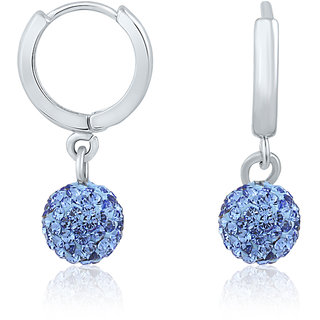 Mahi Liana Collection Swarovski Elements Hoop Earrings