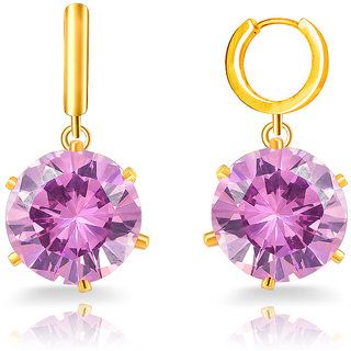 Mahi Daily Wear Fashion Gold Plated Beaming Beauty Earrings Of Brass Alloy