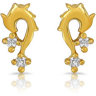 Mahi Gold Plated Unmistakable Earrings With Crystals