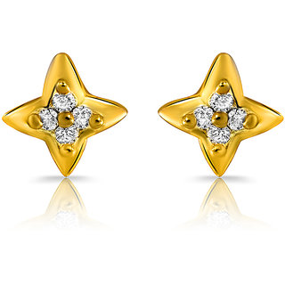 Mahi Gold Plated Virtuous Beauty Earrings With Crystals