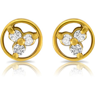 Mahi Gold Plated Stud Earings Glold