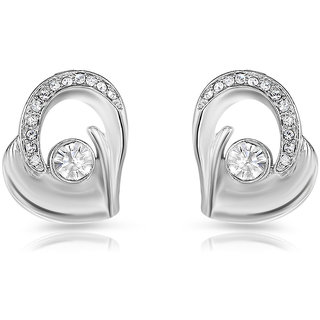 f164b76f6 Buy Mahi Rhodium Plated Bejeweled Earrings With Crystal Stones Online - Get  54% Off