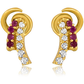 Mahi Gold Plated Sacred Love Earrings With Cz Stones
