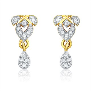 Mahi Gold Plated Pure Alliance Earrings With Crysatl Stones