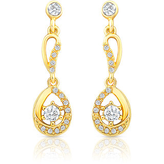 Oviya Gold Plated Luxurious Brilliance Earrings With Crystal