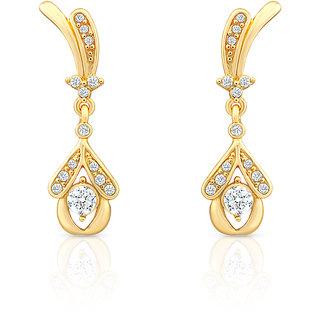 Oviya Gold Plated Night Beauty Earrings With Crystal