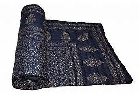 Krg Enterprises  Blue Jaipuri Hand Made Block Print  Singal Bed Quilts  RCM3018