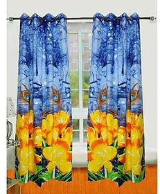 Casa Deco Imperial Polycotton Multicolor Eyelet Curtains