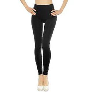 Ladies Cotton Black Legging Xl