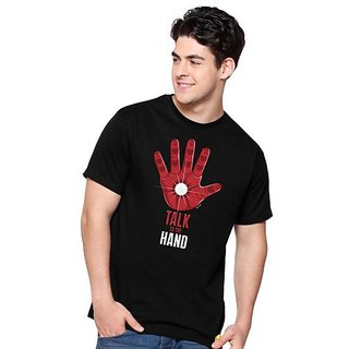 Talk to the hand round neck  .T-Shirt for Men.