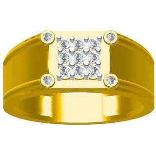 Sakshi Jewels 6.00 Gram 18K Gold 0.36 Carat VVS-FG Diamond Gents Ring.