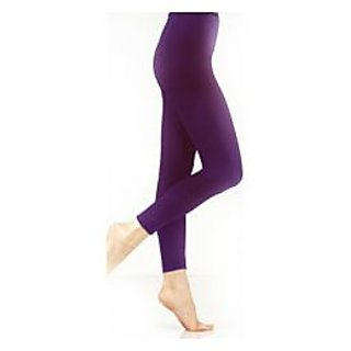 Ladies Cotton Dark Purple Legging XXL Size