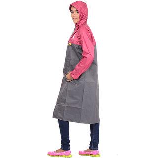 Allwin Unisex (Kids)Polyester Raincoat ,P-1139-GREY-26