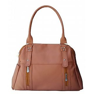 maayas Stylish beige color Handbag myshb-12