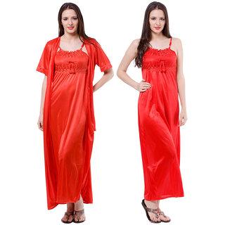 3a282e220d Buy Fasense Nice Women Satin Red Nightwear (2 Pcs Set) Online - Get ...