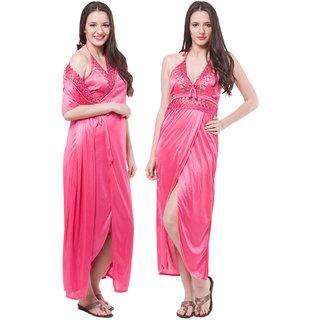 bfa8165a4b Buy Fasense Exclusive Women Satin Pink Nightwear (2 Pcs Set) Online ...