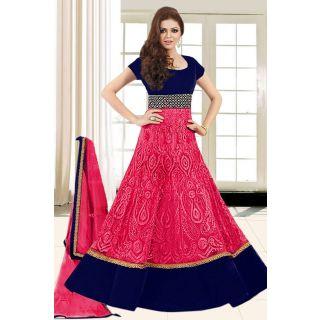 Dashing Diva Pink Semi Stitched Party Wear Salwar Kameez EBSFSK15509K